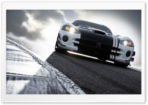 Dodge Viper Race Track HD Wide Wallpaper for Widescreen