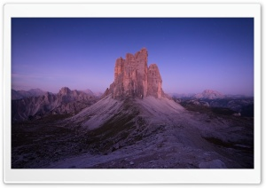 Dolomites Mountains, Night Sky Stars HD Wide Wallpaper for 4K UHD Widescreen desktop & smartphone