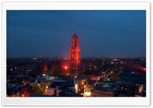Dom Tower At Night HD Wide Wallpaper for Widescreen