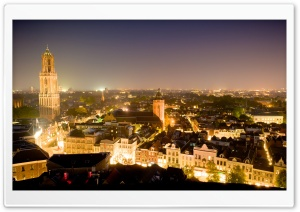 Dom Tower, Utrecht, Netherlands HD Wide Wallpaper for Widescreen