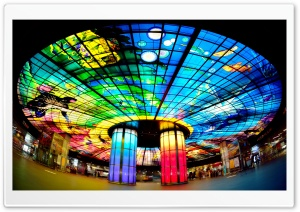 Dome of Light, Formosa Boulevard Station, Taiwan HD Wide Wallpaper for Widescreen