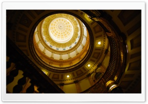 Dome of the Colorado State Capitol, Denver, Colorado HD Wide Wallpaper for Widescreen