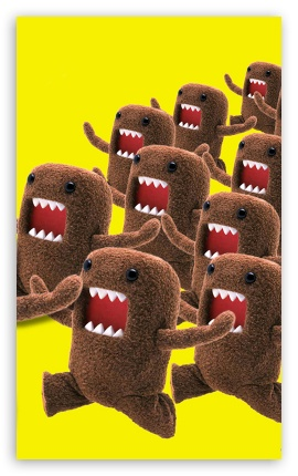 DomoKun HD wallpaper for Mobile 5:3 3:2 - WGA DVGA HVGA HQVGA devices ( Apple PowerBook G4 iPhone 4 3G 3GS iPod Touch ) ;