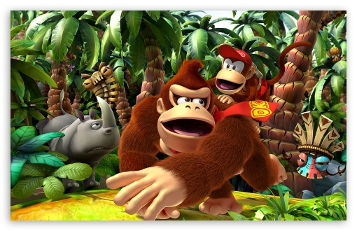 Donkey Kong Returns HD wallpaper for Wide 16:10 5:3 Widescreen WHXGA WQXGA WUXGA WXGA WGA ; HD 16:9 High Definition WQHD QWXGA 1080p 900p 720p QHD nHD ; Standard 4:3 5:4 3:2 Fullscreen UXGA XGA SVGA QSXGA SXGA DVGA HVGA HQVGA devices ( Apple PowerBook G4 iPhone 4 3G 3GS iPod Touch ) ; iPad 1/2/Mini ; Mobile 4:3 5:3 3:2 16:9 5:4 - UXGA XGA SVGA WGA DVGA HVGA HQVGA devices ( Apple PowerBook G4 iPhone 4 3G 3GS iPod Touch ) WQHD QWXGA 1080p 900p 720p QHD nHD QSXGA SXGA ;