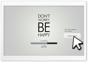 Dont Worry, Be Happy HD Wide Wallpaper for Widescreen