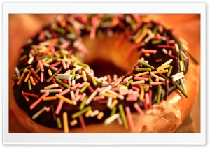 Donut Close-Up HD Wide Wallpaper for Widescreen