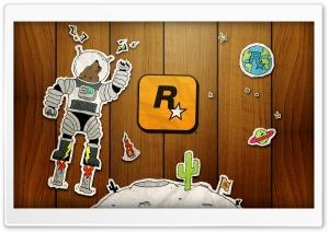 Doodle Space Wolf Ultra HD Wallpaper for 4K UHD Widescreen desktop, tablet & smartphone