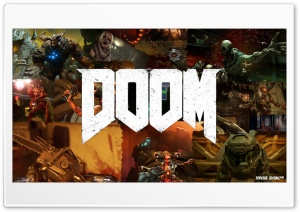 DOOM 2016 HD Wide Wallpaper for Widescreen