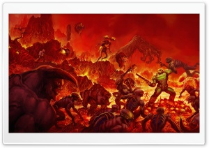 Doom 2016 video game Hell HD Wide Wallpaper for Widescreen