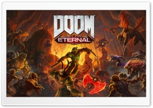 DOOM Eternal video game 2020 Doom Slayer Ultra HD Wallpaper for 4K UHD Widescreen desktop, tablet & smartphone