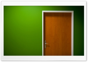 Door Green HD Wide Wallpaper for Widescreen