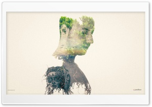Double Exposure Effect HD Wide Wallpaper for Widescreen