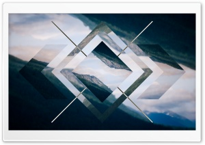 Double Exposure Polyscape Ultra HD Wallpaper for 4K UHD Widescreen desktop, tablet & smartphone