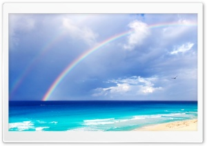 Double Rainbow HD Wide Wallpaper for Widescreen