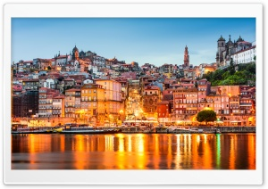Douro River, Porto, Portugal HD Wide Wallpaper for Widescreen