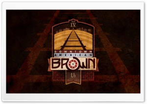 Downtown American Brown HD Wide Wallpaper for Widescreen