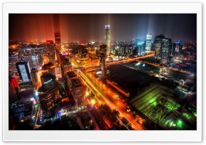 Downtown Beijing After Rain HD Wide Wallpaper for Widescreen