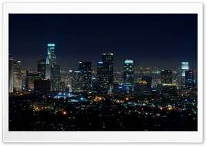 Downtown LA at Night HD Wide Wallpaper for Widescreen