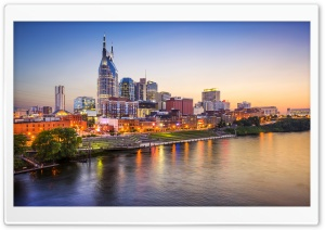 Downtown Nashville, Tennessee HD Wide Wallpaper for 4K UHD Widescreen desktop & smartphone