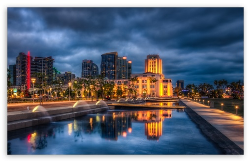 Downtown San Diego 4K HD Desktop Wallpaper For 4K Ultra HD