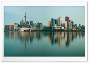 Downtown Toronto Skyline Morning, Canada Ultra HD Wallpaper for 4K UHD Widescreen desktop, tablet & smartphone