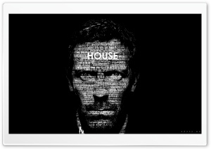 Dr. House Typography HD Wide Wallpaper for 4K UHD Widescreen desktop & smartphone
