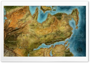 Dragon Age 2 Map HD Wide Wallpaper for Widescreen