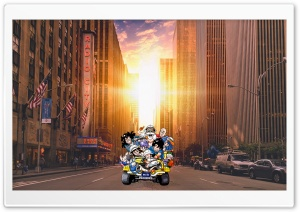 Dragon Ball Team in Manhattan HD Wide Wallpaper for Widescreen