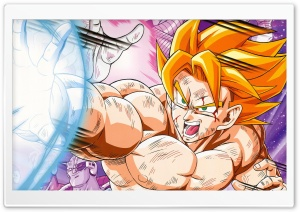 Dragon Ball Z - Super Saiyan Goku HD Wide Wallpaper for Widescreen