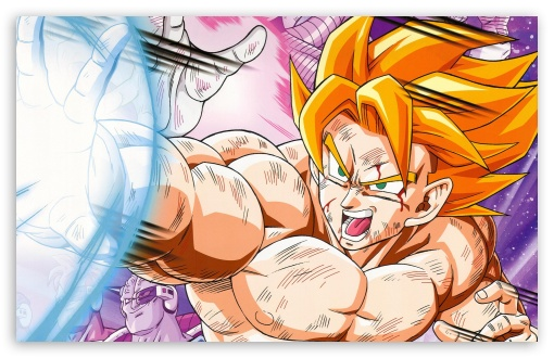 Dragon Ball Z - Super Saiyan Goku HD wallpaper for Wide 16:10 5:3 Widescreen WHXGA WQXGA WUXGA WXGA WGA ; HD 16:9 High Definition WQHD QWXGA 1080p 900p 720p QHD nHD ; MS 3:2 DVGA HVGA HQVGA devices ( Apple PowerBook G4 iPhone 4 3G 3GS iPod Touch ) ; Mobile WVGA iPhone PSP - WVGA WQVGA Smartphone ( HTC Samsung Sony Ericsson LG Vertu MIO ) HVGA Smartphone ( Apple iPhone iPod BlackBerry HTC Samsung Nokia ) Sony PSP Zune HD Zen ;