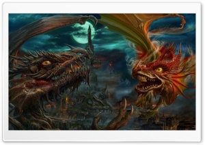 Dragon Fight HD Wide Wallpaper for Widescreen