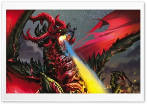 Dragon Flames HD Wide Wallpaper for Widescreen