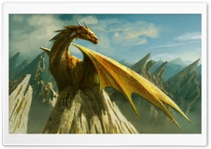 Dragon Paining Art HD Wide Wallpaper for Widescreen