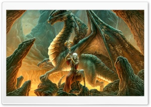 Dragon Queen HD Wide Wallpaper for Widescreen