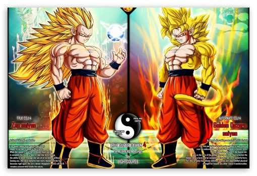 Dbz Dual Screen Wallpapers: Dragonball Z SSJ4 Forms 4K HD Desktop Wallpaper For