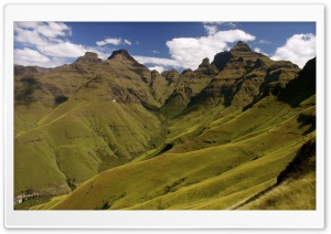 Drakensberg Mountains, Cathedral Peak HD Wide Wallpaper for 4K UHD Widescreen desktop & smartphone