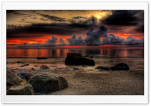 Dramatic Breathtaking Sunset HD Wide Wallpaper for 4K UHD Widescreen desktop & smartphone