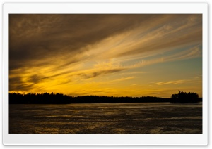 Dramatic Sky, Littoinen, Kaarina, Finland HD Wide Wallpaper for Widescreen