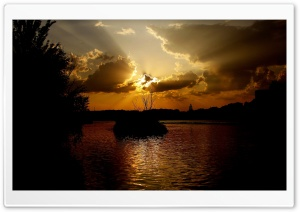 Dramatic Sunset HD Wide Wallpaper for Widescreen