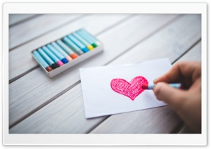 Drawing A Heart HD Wide Wallpaper for Widescreen