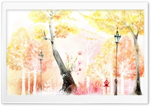 Drawings of Autumn HD Wide Wallpaper for Widescreen