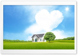 Dream Love House HD Wide Wallpaper for Widescreen