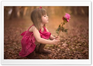 Dreamy Child Girl HD Wide Wallpaper for Widescreen