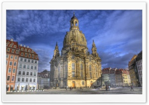 Dresden Frauenkirche, Dresden, Germany HD Wide Wallpaper for Widescreen