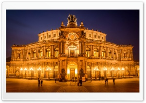 Dresden Semper Opera HD Wide Wallpaper for 4K UHD Widescreen desktop & smartphone