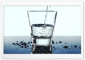 Drinking Water Glass Ultra HD Wallpaper for 4K UHD Widescreen desktop, tablet & smartphone
