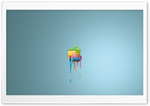 Dripping Apple HD Wide Wallpaper for Widescreen