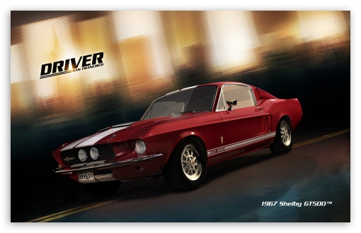 Driver San Francisco 1967 Shelby GT500 HD wallpaper for Wide 16:10 5:3 Widescreen WHXGA WQXGA WUXGA WXGA WGA ; HD 16:9 High Definition WQHD QWXGA 1080p 900p 720p QHD nHD ; Standard 3:2 Fullscreen DVGA HVGA HQVGA devices ( Apple PowerBook G4 iPhone 4 3G 3GS iPod Touch ) ; Mobile 5:3 3:2 16:9 - WGA DVGA HVGA HQVGA devices ( Apple PowerBook G4 iPhone 4 3G 3GS iPod Touch ) WQHD QWXGA 1080p 900p 720p QHD nHD ;