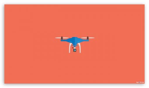 Drone Minimal Artwork - Orange ❤ 4K UHD Wallpaper for 4K UHD 16:9 Ultra High Definition 2160p 1440p 1080p 900p 720p ; Mobile 16:9 - 2160p 1440p 1080p 900p 720p ;