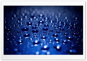 Drops On Blue Background HD Wide Wallpaper for Widescreen